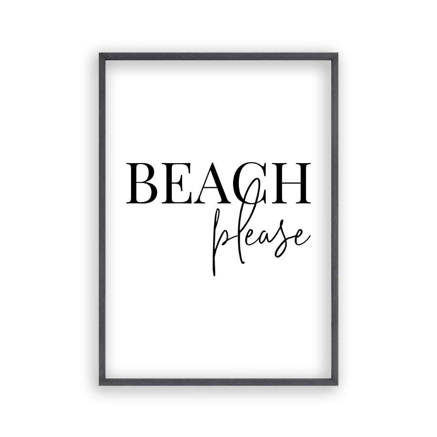 Beach Please Print - Blim & Blum