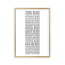 Bridges Of London Typography Print - Blim & Blum