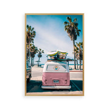 Load image into Gallery viewer, Camper Van Beach Pink Print - Blim & Blum