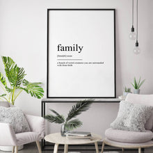 Load image into Gallery viewer, Family Definition Print - Blim & Blum