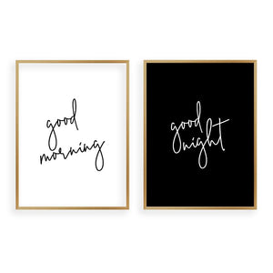 Good Morning Good Night - Set Of 2 Prints - Blim & Blum