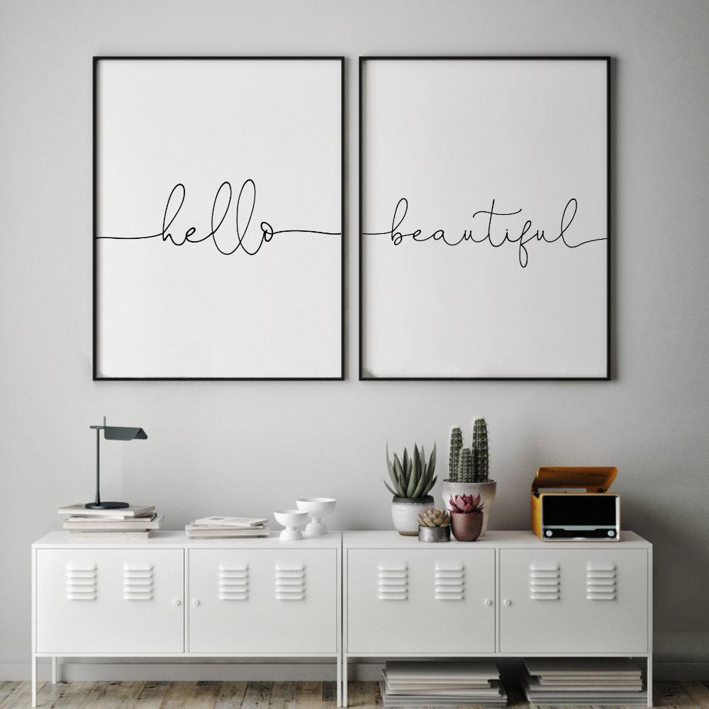 Hello Beautiful - Set Of 2 Prints - Blim & Blum