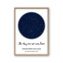Load image into Gallery viewer, Personalised Day You Were Born Stars Print - Blim & Blum