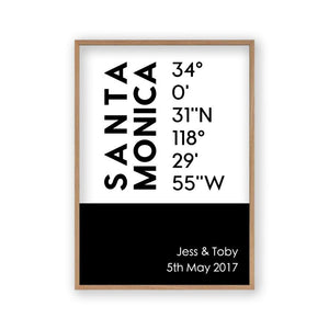 Personalised Coordinates Location Print - Blim & Blum