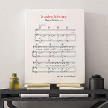 Load image into Gallery viewer, Personalised Favourite Song Music Sheet Notes Print - Blim & Blum