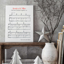 Load image into Gallery viewer, Personalised Favourite Song Music Sheet Notes Print