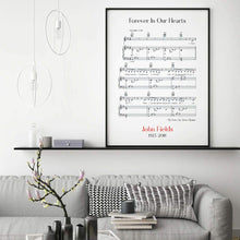 Load image into Gallery viewer, Personalised Funeral Memorial Song Sheet Music Print