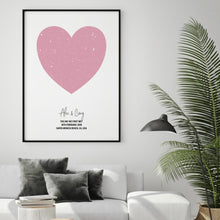 Load image into Gallery viewer, Personalised Heart Star Map Print