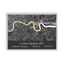 Personalised London Marathon Map Print - Blim & Blum