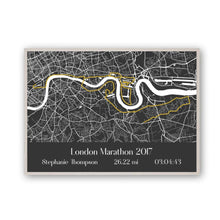 Load image into Gallery viewer, Personalised London Marathon Map Print - Blim & Blum