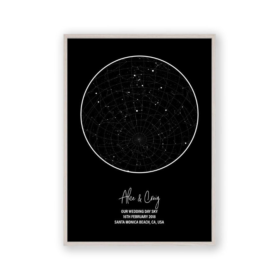 776592f68 Personalised Star Map Night Sky Print – Blim and Blum