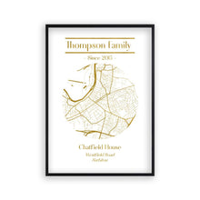 Personalised Metallic Map Print - Blim & Blum