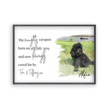 Load image into Gallery viewer, Personalised Pet Photo Print - Blim & Blum