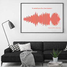 Personalised Sound Wave Music Song Print
