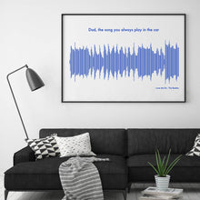 Load image into Gallery viewer, Personalised Sound Wave Music Song Print
