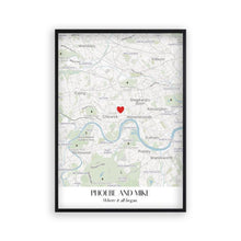 Load image into Gallery viewer, Personalised Special Place Map Print - Blim & Blum
