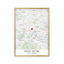 Personalised Special Place Map Print - Blim & Blum