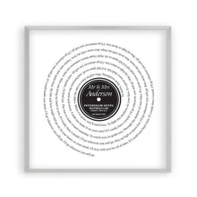 Personalised Vinyl First Dance Song Record Lyrics Print - Blim & Blum