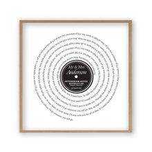 Load image into Gallery viewer, Personalised Vinyl First Dance Song Record Lyrics Print - Blim & Blum