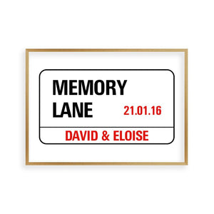 Personalised Wedding London Street Sign - Blim & Blum