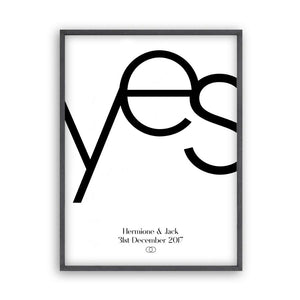 Personalised Yes Engagement Print - Blim & Blum