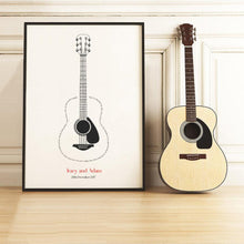 Load image into Gallery viewer, Personalised Guitar Song Lyrics Print - Blim & Blum