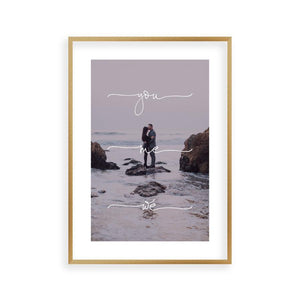 Personalised You Me We Couple Photograph Print - Blim & Blum