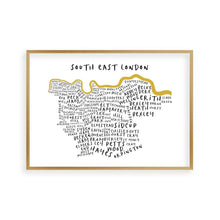 South East London Typography Map Print - Blim & Blum