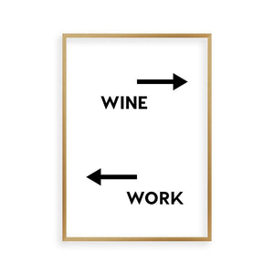 Personalised Drink Work Direction Print - Blim & Blum