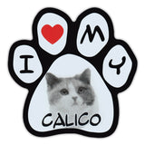 Picture Paw Magnet - I Love My Calico