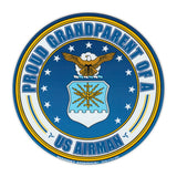 Round Magnet - Proud Grandparent of a US Airman