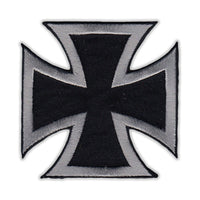 Patch - Maltese Cross (Black, Silver)