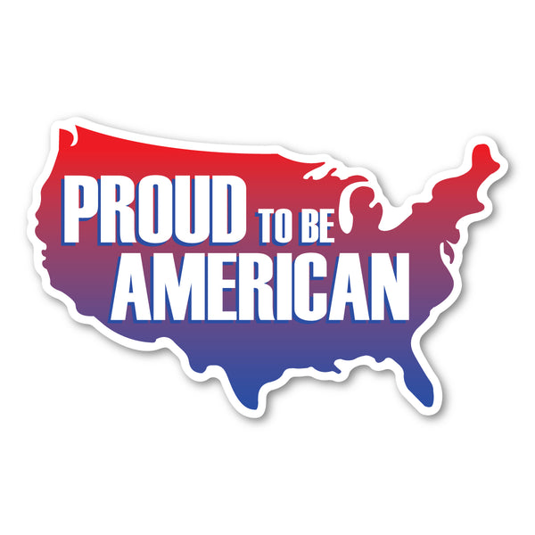 "Magnet - Proud To Be An American Magnet (8"" x 5"")"