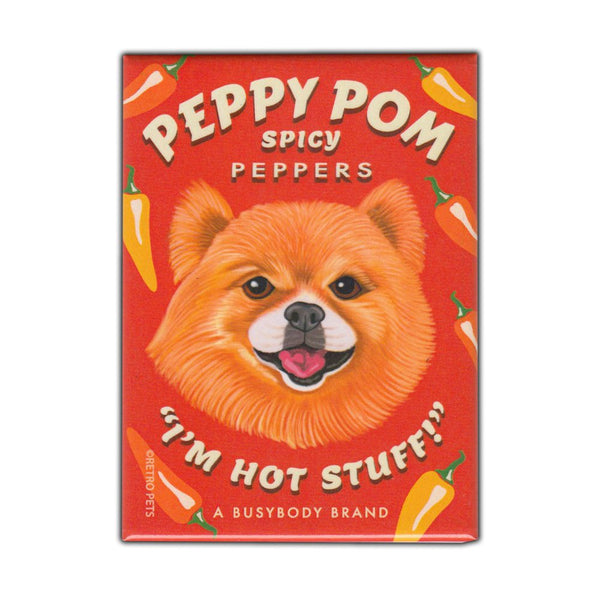 Refrigerator Magnet - Peppy Pom Spicy Peppers