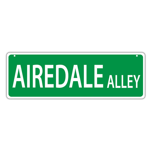 Street Sign - Airedale Alley