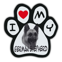 Picture Paw Magnet - I Love My German Shepherd