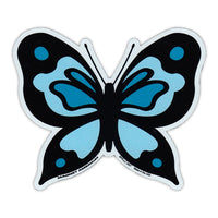 "Magnet - Blue Butterfly (4.75"" x 4"")"