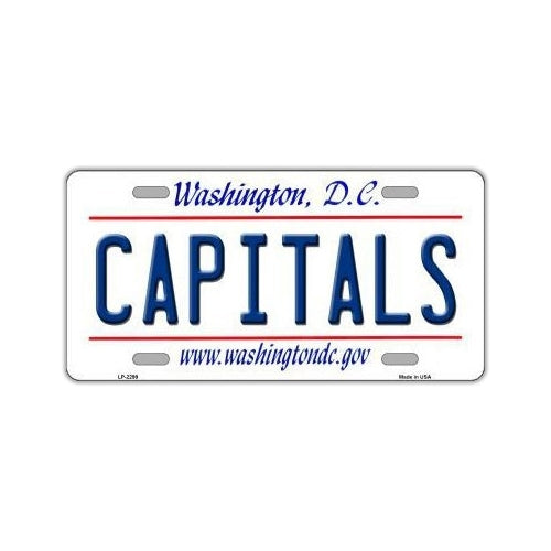 NHL Hockey License Plate Cover - Washington Capitals