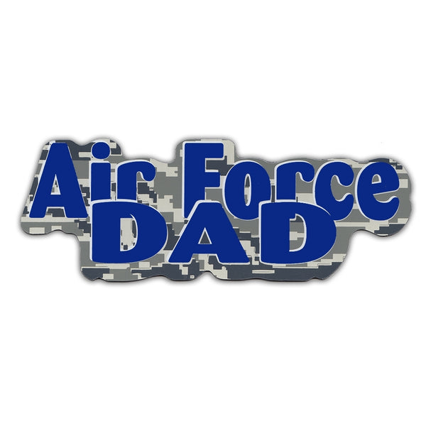 "Word Magnet - Air Force Dad (2.25"" x 6.5"")"