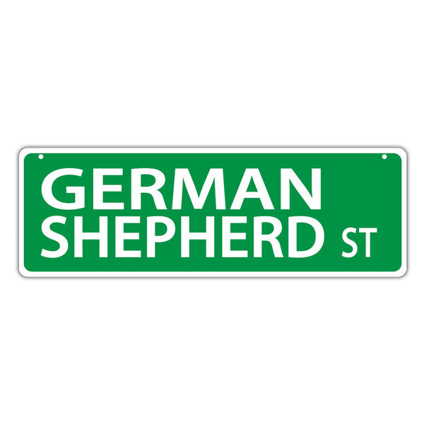 Street Sign - German Shepherd Street