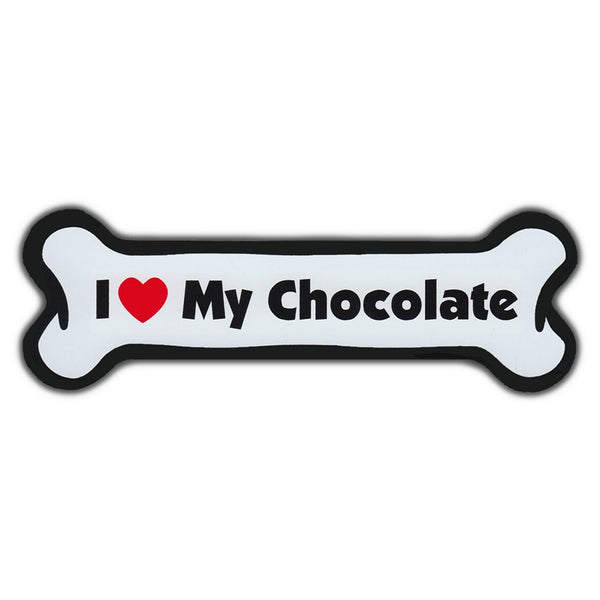 Dog Bone Magnet - I Love My Chocolate