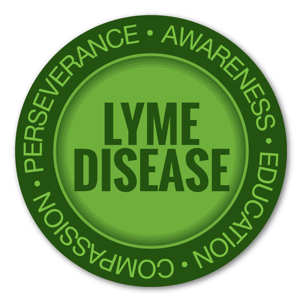 "Magnet - Lyme Disease Awareness and Support Magnet (5"" Round)"