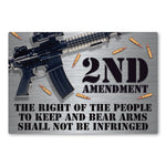 "Magnet - 2nd Amendment, Right To Bear Arms (6"" x 4"")"