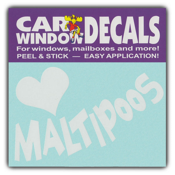 "Window Decal - Love Maltipoos (4.5"" Wide)"