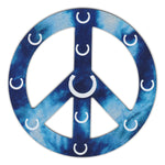 "Magnet - Peace Sign, Blue Design w/Horseshoes (4.75"" Round"