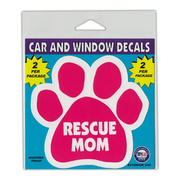 "Window Decals (2-Pack) - Rescue Mom (4.25"" x 4"")"