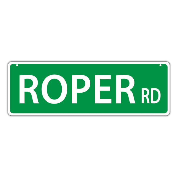 Novelty Street Sign - Roper Road (Cowboy Roping)