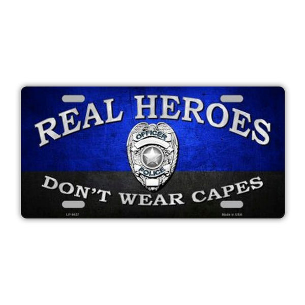 Real Heroes Don't Wear Capes Plate
