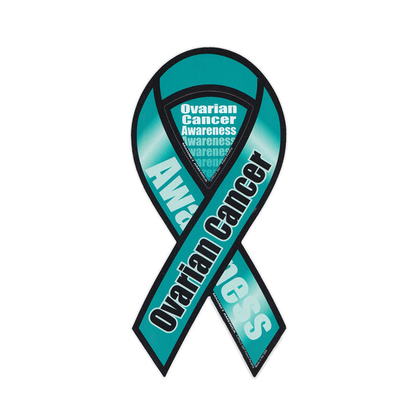 Ribbon Magnet - Ovarian Cancer Awareness