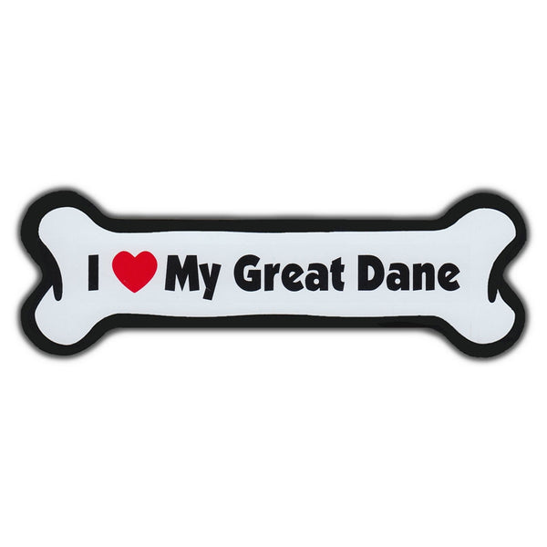 Dog Bone Magnet - I Love My Great Dane